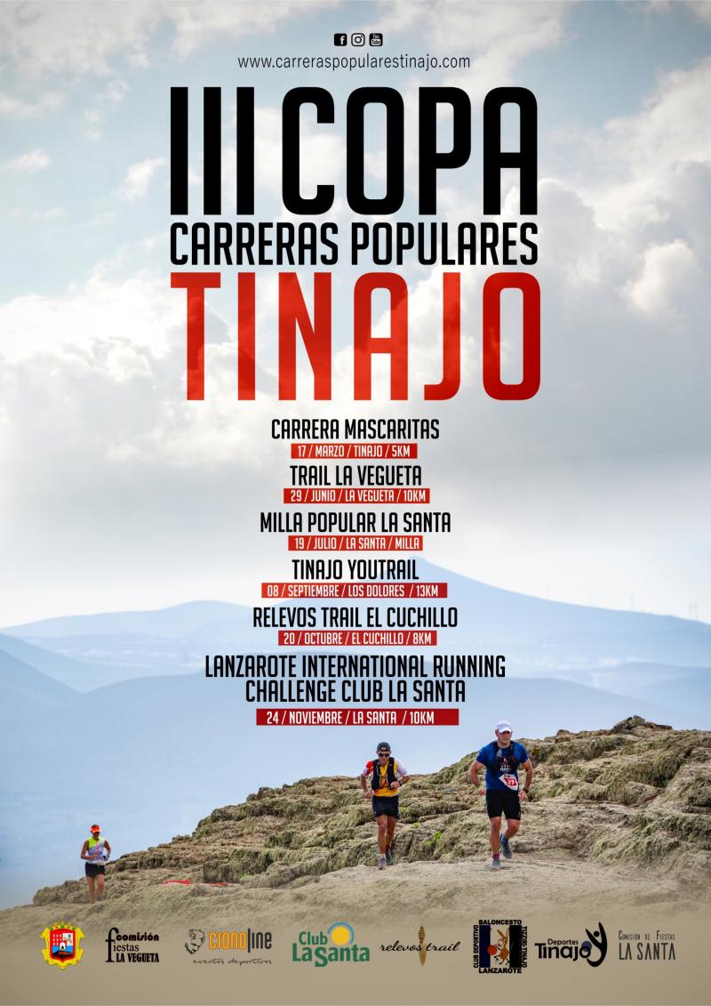 III COPA CARRERAS POPULARES MUNICIPIO DE TINAJO  - Inscríbete